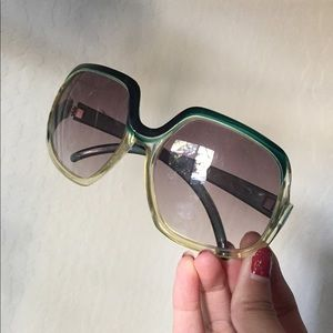 green vintage sunglasses